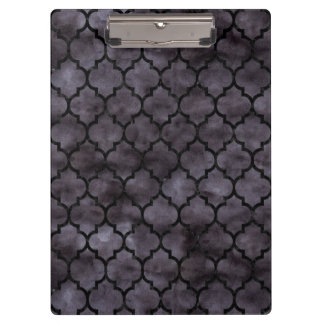 TILE1 BLACK MARBLE & BLACK WATERCOLOR (R) CLIPBOARD