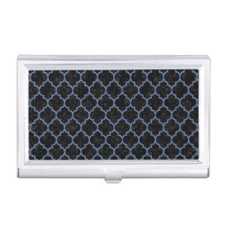 TILE1 BLACK MARBLE & BLUE DENIM BUSINESS CARD HOLDER