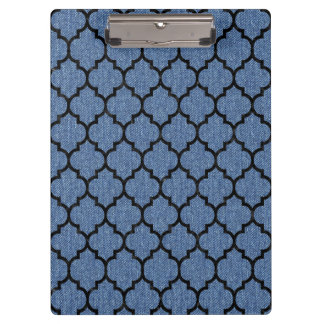 TILE1 BLACK MARBLE & BLUE DENIM (R) CLIPBOARD