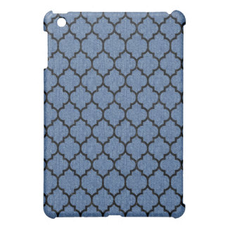 TILE1 BLACK MARBLE & BLUE DENIM (R) iPad MINI CASE