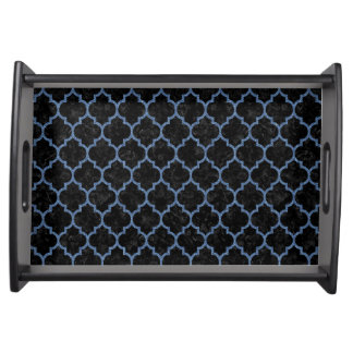 TILE1 BLACK MARBLE & BLUE DENIM SERVING TRAY