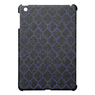 TILE1 BLACK MARBLE & BLUE LEATHER iPad MINI CASE