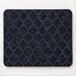TILE1 BLACK MARBLE & BLUE LEATHER MOUSE PAD