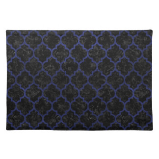 TILE1 BLACK MARBLE & BLUE LEATHER PLACEMAT