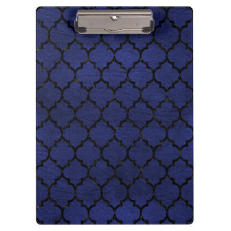 TILE1 BLACK MARBLE & BLUE LEATHER (R) CLIPBOARD