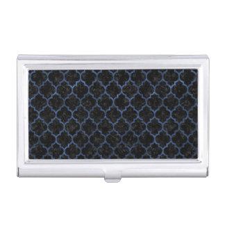 TILE1 BLACK MARBLE & BLUE STONE BUSINESS CARD HOLDER