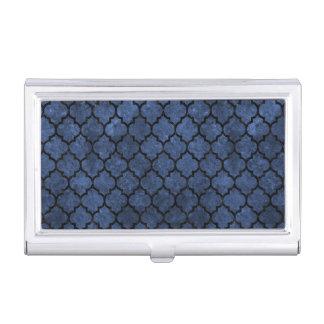 TILE1 BLACK MARBLE & BLUE STONE (R) BUSINESS CARD HOLDER