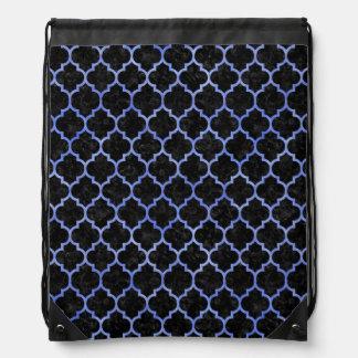 TILE1 BLACK MARBLE & BLUE WATERCOLOR DRAWSTRING BAG