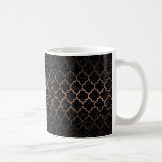 TILE1 BLACK MARBLE & BRONZE METAL COFFEE MUG