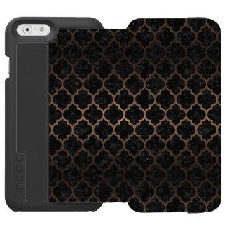 TILE1 BLACK MARBLE & BRONZE METAL INCIPIO WATSON™ iPhone 6 WALLET CASE