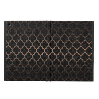 TILE1 BLACK MARBLE & BRONZE METAL iPad AIR CASE