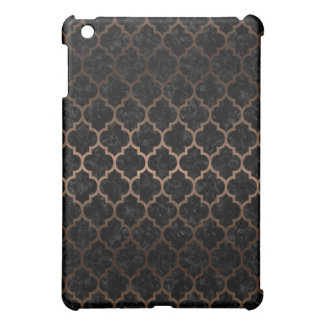 TILE1 BLACK MARBLE & BRONZE METAL iPad MINI CASES