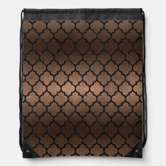 TILE1 BLACK MARBLE & BRONZE METAL (R) DRAWSTRING BAG