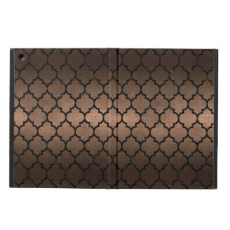 TILE1 BLACK MARBLE & BRONZE METAL (R) iPad AIR COVER