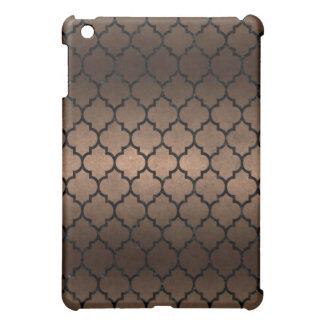 TILE1 BLACK MARBLE & BRONZE METAL (R) iPad MINI COVER