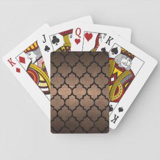 TILE1 BLACK MARBLE & BRONZE METAL (R) PLAYING CARDS