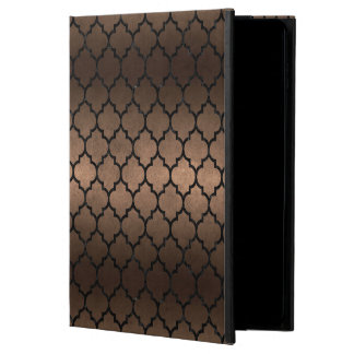 TILE1 BLACK MARBLE & BRONZE METAL (R) POWIS iPad AIR 2 CASE