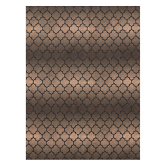 TILE1 BLACK MARBLE & BRONZE METAL (R) TABLECLOTH