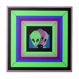 Tile Alien Friends Roswell Amigos Extraterrestrial