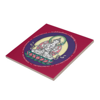 Tile - Avalokiteshvara (Tib: Chenrezig) Compassion