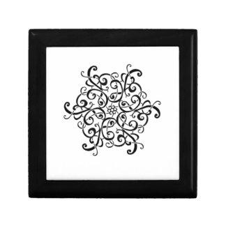 Tile-Black and White Design Small Square Gift Box