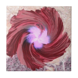 Tile bloom red turned