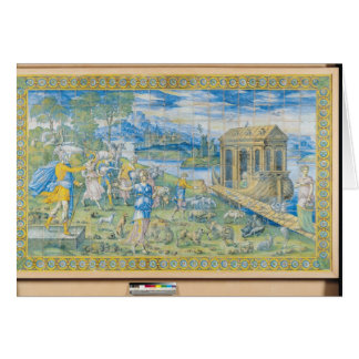 Tile depicting the Story of Noah Card