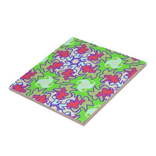"Tile ""flower power"" neon multicolored"