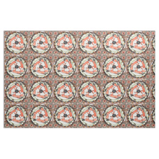 Tile Fox Foxes Mystic Rust, Orange Designer Fabric