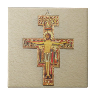 Tile--Franciscan Cross Small Square Tile