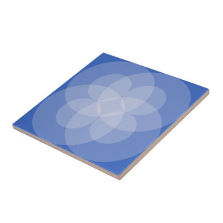 Tile - Intersecting Circles in Shades of Blue
