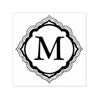 Tile Monogram Self-inking Stamp