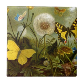 Tile Nature Dandelion to seed Butterfly Woodland