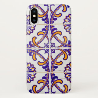 Tile pattern close-up, Portugal iPhone X Case