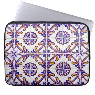 Tile pattern close-up, Portugal Laptop Sleeve