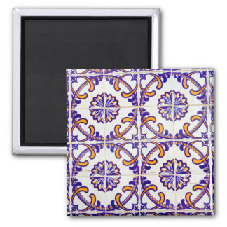 Tile pattern close-up, Portugal Magnet
