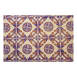 Tile pattern close-up, Portugal Wood Wall Art