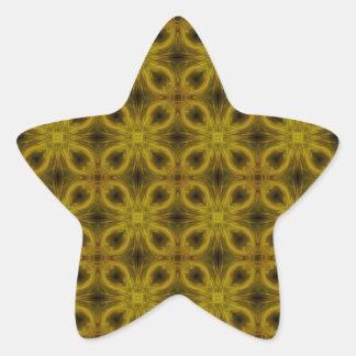 Tile Pattern in Gold Star Sticker