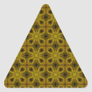 Tile Pattern in Gold Triangle Sticker