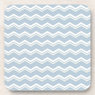Tile pattern with white and yellow zig zag print drink coaster