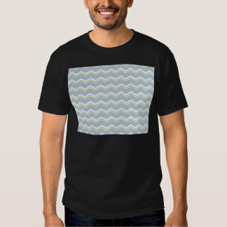 Tile pattern with white and yellow zig zag print shirts