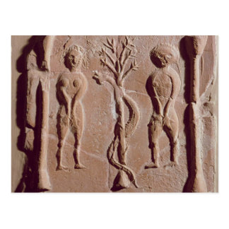 Tile representing Adam and Eve, Roman Postcard