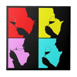 Tile retro Bold Quad pop art Wine Tasting Trivet