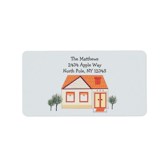 Tile Roof New Home Address Address Label