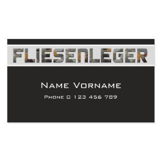 Tile setter pack of standard business cards