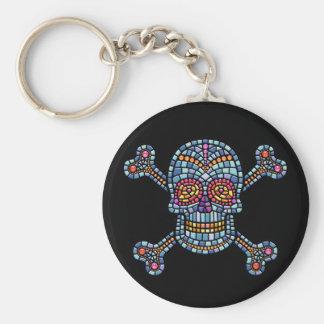 Tile Skull 1 Keychains