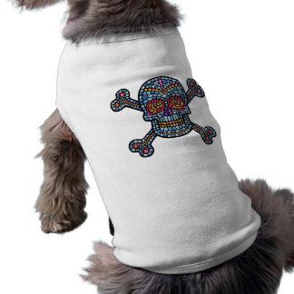 Tile Skull 1 Sleeveless Dog Shirt