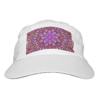 Tile Style Custom Woven Performance Hat, White Hat