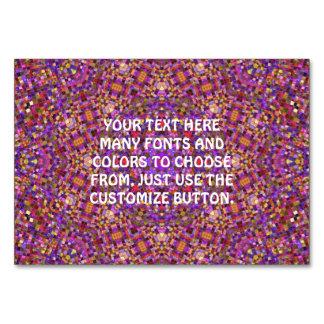 Tile Style Kaleidoscope  Tablecards Card