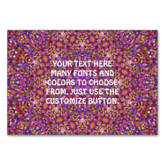 Tile Style Kaleidoscope  Tablecards Table Card